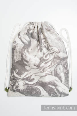 Sackpack made of wrap fabric (100% cotton) - POSEIDON - standard size 32cmx43cm