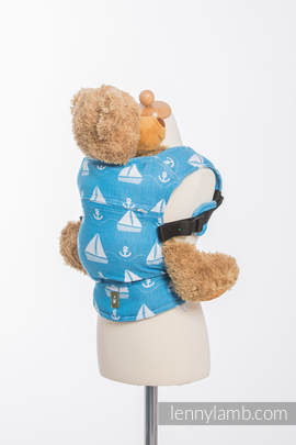 Doll Carrier made of woven fabric, 100% cotton - HOLIDAY CRUISE
