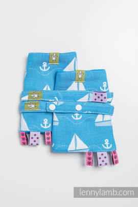Drool Pads & Reach Straps Set, (100% cotton) - HOLIDAY CRUISE