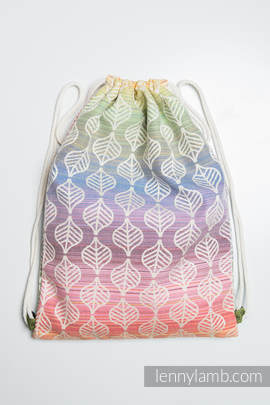 Sackpack made of wrap fabric (100% cotton) - TULIP PETALS - standard size 32cmx43cm