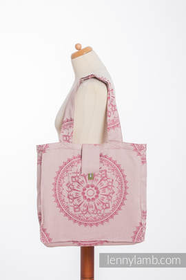 Shoulder bag made of wrap fabric (100% cotton) - SANDY SHELLS - standard size 37cmx37cm