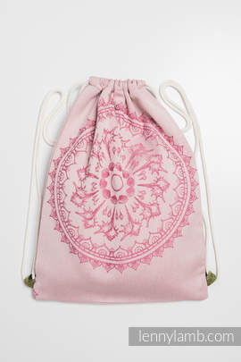 Sackpack made of wrap fabric (100% cotton) - SANDY SHELLS - standard size 32cmx43cm