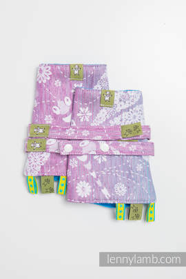 Drool Pads & Reach Straps Set, (60% cotton, 40% linen) - DRAGONFLY LAVENDER