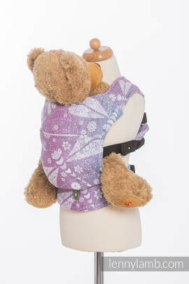 Doll Carrier made of woven fabric - DRAGONFLY LAVENDER