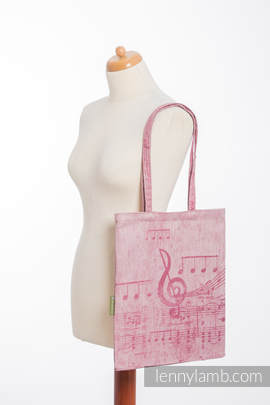 Shopping bag made of wrap fabric (60% cotton, 40% linen) - ENCHANTED SYMPHONY