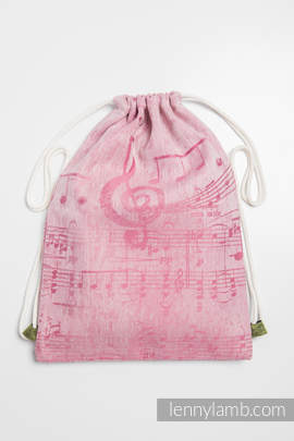 Sackpack made of wrap fabric (60% cotton 40% linen) - ENCHANTED SYMPHONY - standard size 35cmx45cm