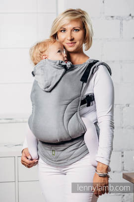 Basic Line Ergonomic Carrier - CALCITE, Toddler Size, satin weave 100% cotton - Second Generation (grade B)