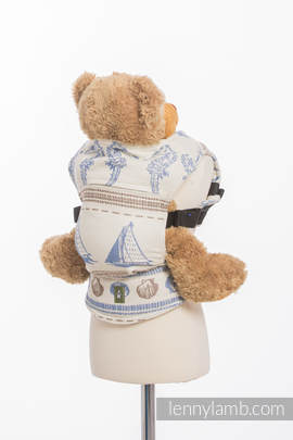 Doll Carrier made of woven fabric, 100% cotton - BALTICA 2.0