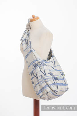 Hobo Bag made of woven fabric, 100% cotton - PARADISE ISLAND