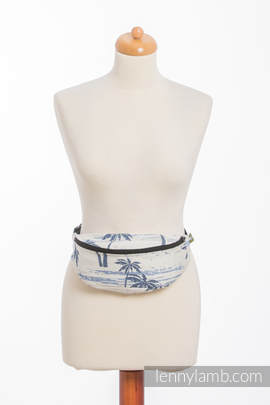 Waist Bag made of woven fabric, (100% cotton) - PARADISE ISLAND