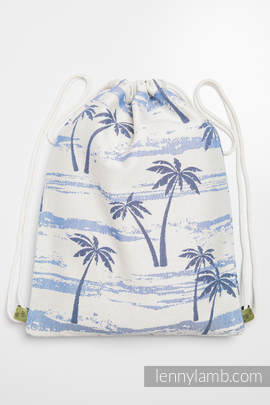 Sackpack made of wrap fabric (100% cotton) - PARADISE ISLAND - standard size 32cmx43cm