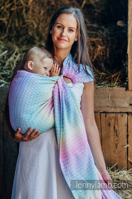 Ringsling, Jacquard Weave (80% cotton, 20% bamboo) - LITTLE LOVE - SCENT OF SUMMER