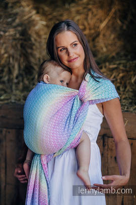 Baby Wrap, Jacquard Weave (80% cotton, 20% bamboo) - LITTLE LOVE - SCENT OF SUMMER - size XL
