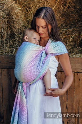 Baby Wrap, Jacquard Weave (80% cotton, 20% bamboo) - LITTLE LOVE - SCENT OF SUMMER - size XS