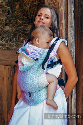 Ergonomic Carrier, Baby Size, jacquard weave 80% cotton, 20% bamboo - wrap conversion from LITTLE LOVE - SCENT OF SUMMER, Second Generation (grade B)