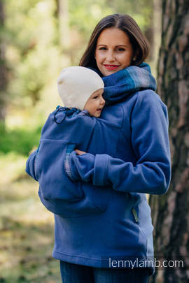 Fleece Babywearing Sweatshirt 2.0 - size 6XL - blue with Little Herringbone Illusion