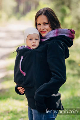 Fleece Babywearing Sweatshirt 2.0 - size 5XL - black with Little Herringbone Inspiration