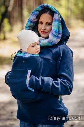 Fleece Babywearing Sweatshirt 2.0 - size XL - navy blue with Little Herringbone Petrea