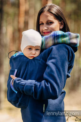 Fleece Babywearing Sweatshirt 2.0 - size 5XL - navy blue with Little Herringbone Petrea