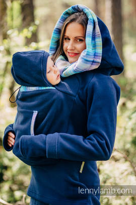 Fleece Babywearing Sweatshirt 2.0 - size 4XL - navy blue with Little Herringbone Petrea