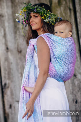 Baby Wrap, Jacquard Weave (60% cotton, 40% bamboo) - BIG LOVE - WILDFLOWERS - size S