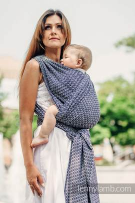 Baby Wrap, Jacquard Weave (100% cotton) - LITTLE LOVE - HARMONY - size M (grade B)