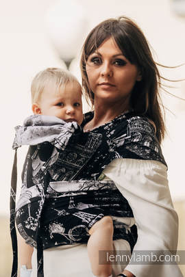 WRAP-TAI carrier Toddler with hood/ jacquard twill / 100% cotton / CITY OF LOVE AT NIGHT