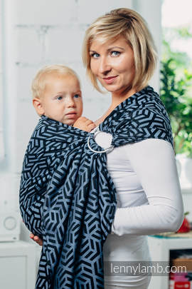 Basic Line Ring Sling - KYANITE - 100% Cotton - Jacquard Weave -  with gathered shoulder (grade B)