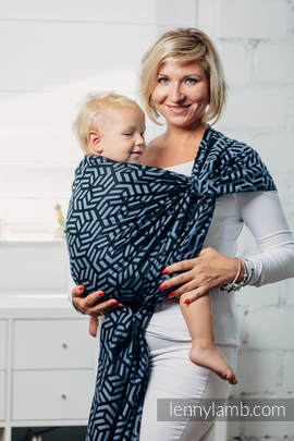 Basic Line Baby Sling - KYANITE, Jacquard Weave, 100% cotton, size XL