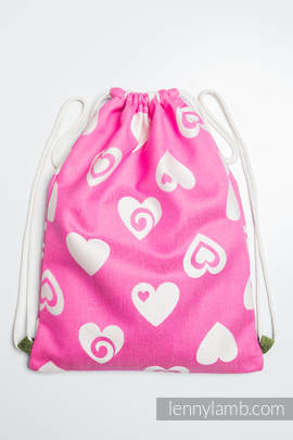 Sackpack made of wrap fabric (100% cotton) - SWEETHEART PINK & CREME 2.0 - standard size 32cmx43cm
