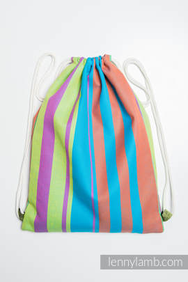 Sackpack made of wrap fabric (100% cotton) - ZUMBA BLUE- standard size 32cmx43cm