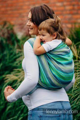Baby Wrap, Herringbone Weave (100% cotton) - LITTLE HERRINGBONE AMAZONIA - size XL
