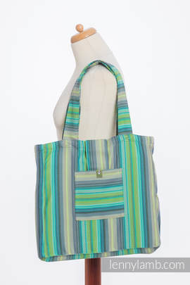 Shoulder bag made of wrap fabric (100% cotton) - LITTLE HERRINGBONE AMAZONIA - standard size 37cmx37cm