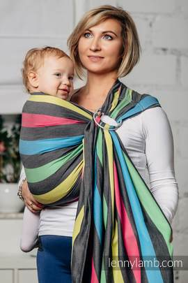 Ring Sling, Broken Twill Weave (40% bamboo + 60% cotton) - Twilight, with gathered shoulder, (grade B)