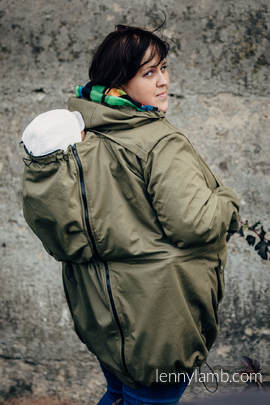 Parka Babywearing Coat - size 4XL -  Khaki & Customized Finishing