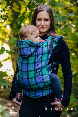 Ergonomic Carrier, Toddler Size, twill weave 100% cotton - wrap conversion from COUNTRYSIDE PLAID - Second Generation.