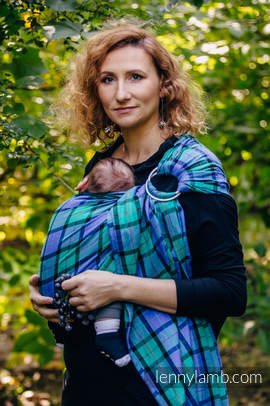 Ring Sling - 100% Cotton - Twill Weave, with gathered shoulder - COUNTRYSIDE PLAID
