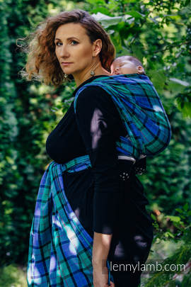 Baby Sling, Twill Weave, 100% cotton,  COUNTRYSIDE PLAID - size M (grade B)