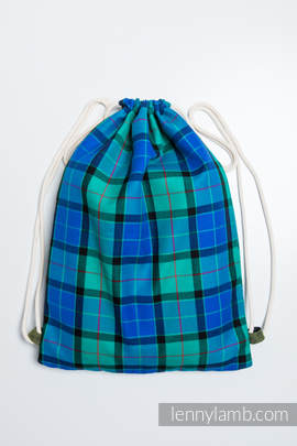 Sackpack made of wrap fabric (100% cotton) - COUNTRYSIDE PLAID - standard size 32cmx43cm