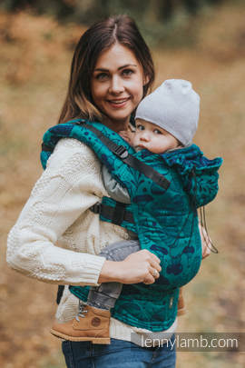 Ergonomic Carrier, Toddler Size, jacquard weave 100% cotton - wrap conversion from UNDER THE LEAVES - Second Generation
