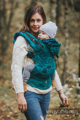 Ergonomic Carrier, Baby Size, jacquard weave 100% cotton - UNDER THE LEAVES - Second Generation