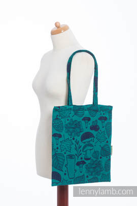Shopping bag made of wrap fabric (100% cotton) - UNDER THE LEAVES (grade B)
