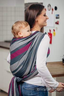 Baby Sling, Broken Twill Weave, 100% cotton,  SMOKY - FUCHSIA - size S