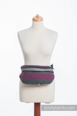 Waist Bag made of woven fabric, size large (100% cotton) - SMOKY - FUCHSIA