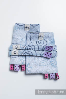 Drool Pads & Reach Straps Set, (100% cotton) - WINTER PRINCESSA