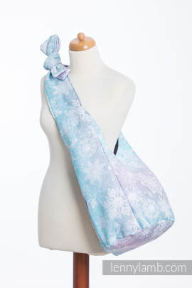 Hobo Bag made of woven fabric, 96% cotton, 4% metallised yarn - GLITTERING SNOW QUEEN