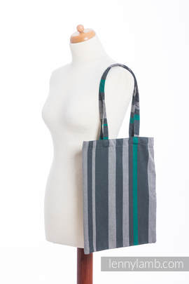 Shopping bag made of wrap fabric (100% cotton) - SMOKY - MINT