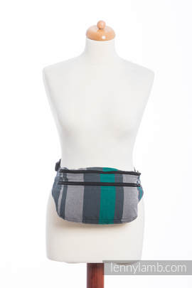Waist Bag made of woven fabric, size large (100% cotton) - SMOKY - MINT
