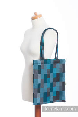 Shopping bag made of wrap fabric (100% cotton) - QUARTET RAINY