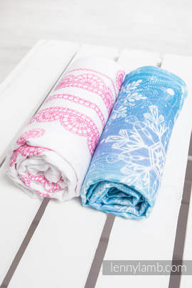 Swaddle Wrap Set - SNOW QUEEN, ICED LACE PINK & WHITE